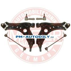 Sada přední nápravy Master Sport, ramena, stabilizátory a čepy řízení Volkswagen Polo - 12.51.700 6Q0407366M 6Q0411315A 6Q0411315B 6Q0411315C 6Q0411315D